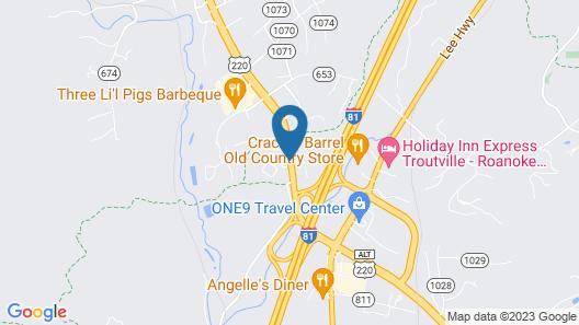 Howard Johnson by Wyndham Daleville/Roanoke North Map