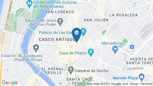 Hotel Palace Sevilla Map