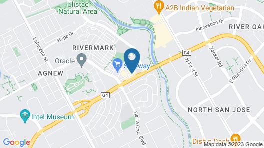 HYATT house Santa Clara Map