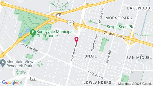 Larkspur Landing Sunnyvale - An All-Suite Hotel Map