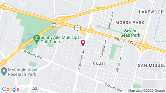 Motel 6 Sunnyvale, CA - North Map