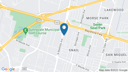 Motel 6 Sunnyvale, CA - South Map