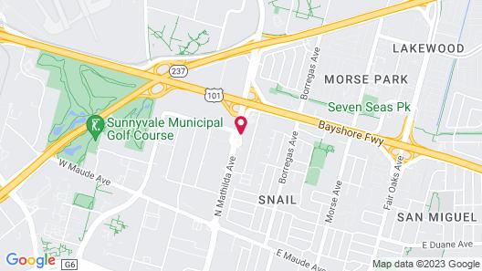 Vagabond Inn Sunnyvale Map