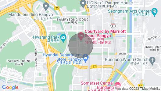 Nearby Pangyo Station Map