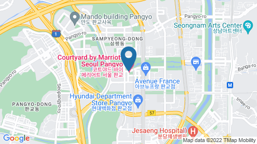Courtyard by Marriott Seoul Pangyo Map