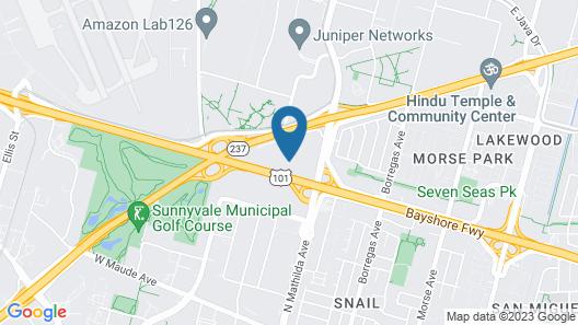Sonesta ES Suites Sunnyvale Map