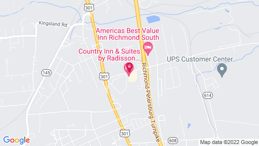 Country Inn & Suites by Radisson, Richmond I-95 South, VA Map