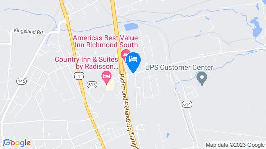 Americas Best Value Inn Richmond South Map