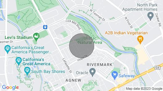 Bright Santa Clara 1BR w/ Parking, W/d, Walk to Groceries, by Blueground Map
