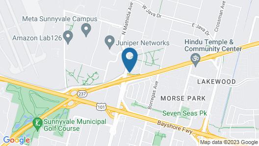 Sheraton Sunnyvale Hotel Map