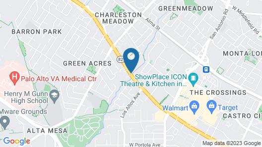 Oak Motel Palo Alto Map