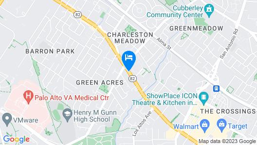Hilton Garden Inn Palo Alto Map
