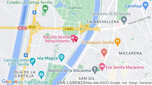 Barceló Sevilla Renacimiento Map