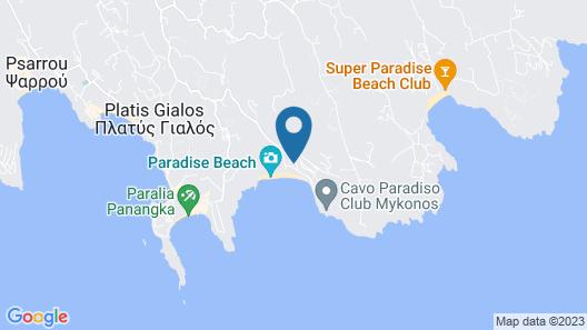 Tropicana Hotel , Suites & Villas Mykonos Map