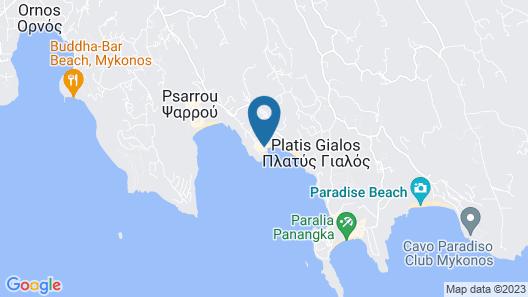 Petinos Beach Hotel Map
