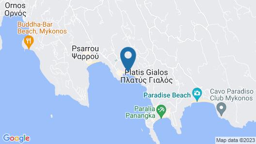 Mykonos Palace Beach Hotel Map