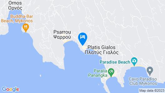 Petasos Beach Resort & Spa - Member of Small Luxury Hotels of the World Map