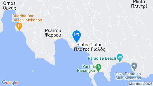 Acrogiali Beach Hotel Map