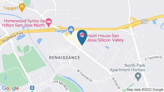 HYATT house San Jose/Silicon Valley Map