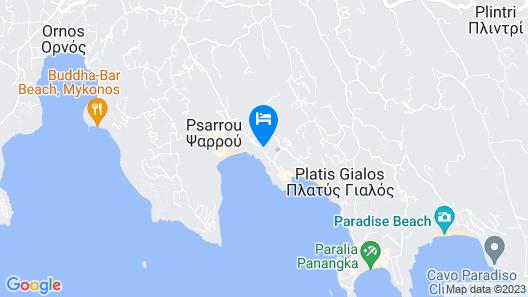 Kamari Hotel Map