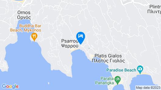 Mykonos Blu Grecotel Boutique Resort Map