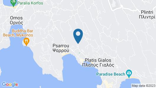 Mr & Mrs White Mykonos Map