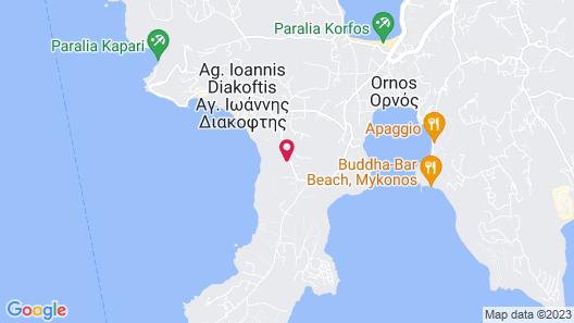 Amazon Mykonos Resort & Spa Map