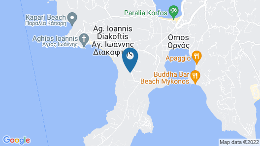 Amazon Mykonos Resort & Spa Map