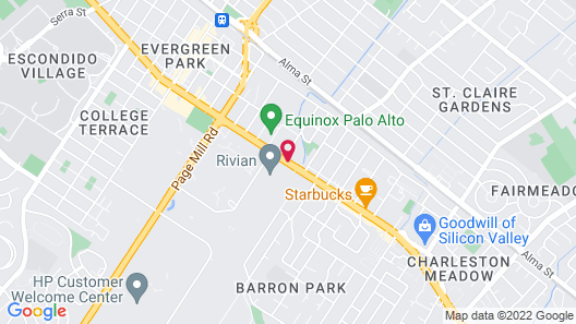 Stanford Motor Inn Palo Alto Map