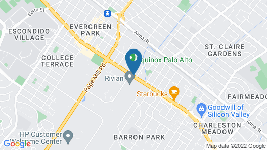 Travelodge by Wyndham Palo Alto Silicon Valley Map