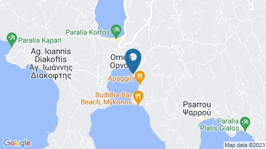 Mykonos Ammos Hotel Map