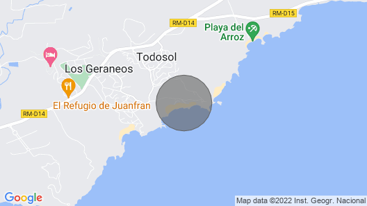 House Directly by the sea With Unbelievable sea Look; Aguilas-todosol Map