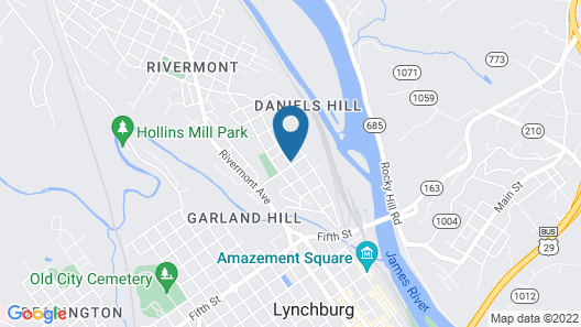 The Carriage House Inn Bed & Breakfast Map