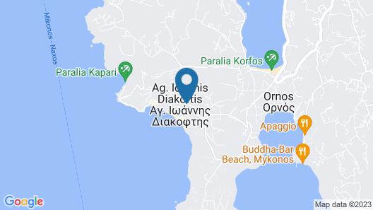 Mykonos Moussa Suites Map