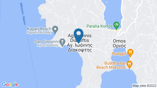 Diana Villa Mykonos Map
