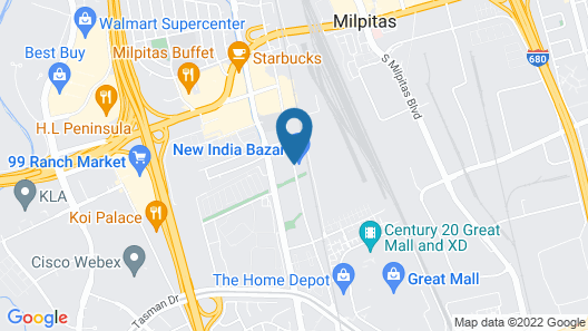 Americas Best Value Inn Milpitas Silicon Valley Map
