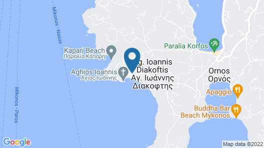 Katikies Mykonos - The Leading Hotels Of The World Map