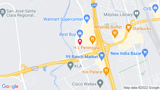 Hilton Garden Inn San Jose/Milpitas Map