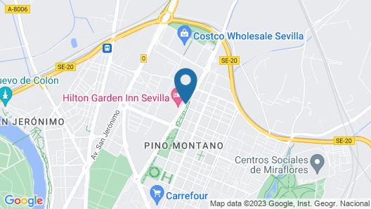 Hilton Garden Inn Sevilla Map