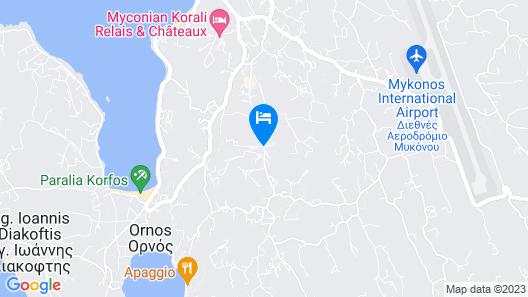 Portes Mykonos Suites & Villas Map