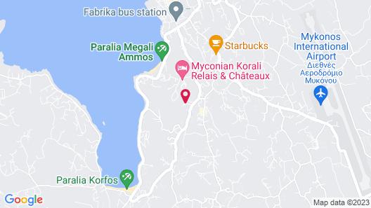 Tharroe of Mykonos Map