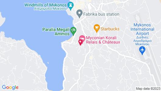 Myconian Naia - Preferred Hotels & Resorts Map