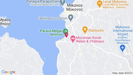 Mykonos Beach Hotel Map