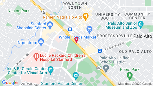 The Westin Palo Alto Map
