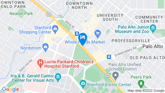 Sheraton Palo Alto Hotel Map