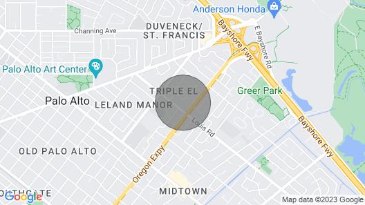 Cute and Cozy Studio in Palo Alto Map