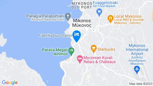 Mykonos Adonis Hotel Map