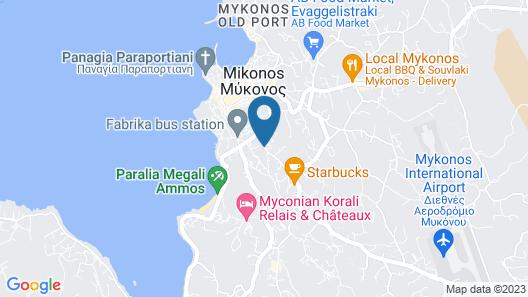 Hotel Nazos Map