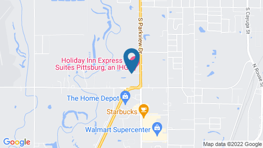 Comfort Inn and Suites Pittsburg Map