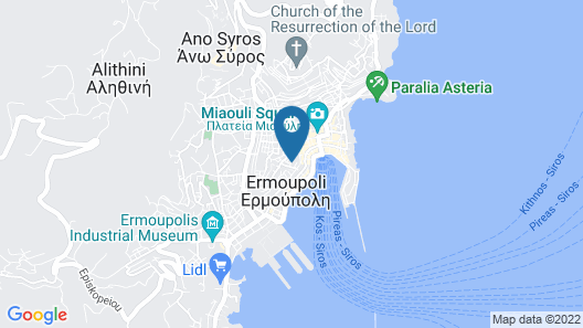 Apartment With one Bedroom in Ano Syros, With Wonderful sea View, Furnished Terrace and Wifi - 3 km From the Beach Map
